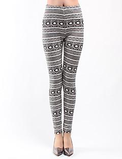 Naisten Kuvio Polyesteri Leggingsit ,  Ohut