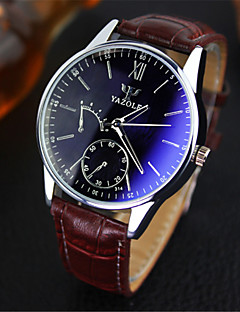 YAZOLE® Luxury Brand Fashion Faux Leather Blue Ray Glass Men Watch 2015 Quartz Analog Business Wrist Watches Men montre homme Cool Watch Unique Watch