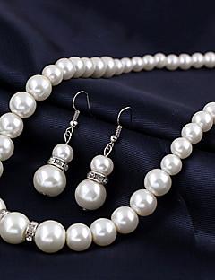 Femme Pendentif de collier Collier de perles Perle Alliage bijoux de fantaisie Mariée Européen Bijoux Pour Mariage