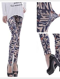 Sexy / Bodycon / Informeel / Opdruk / Feest Medium taille - VROUWEN - 9/10 broek ( Polyester )met Skinny