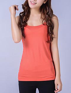 KRFR®Women's Solid Orange T-shirt , Strap Sleeveless T-shirt