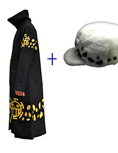Inspirado por Cosplay Cosplay Animé Disfraces de cosplay Trajes Cosplay Estampado Negro Capa Sombrero Para