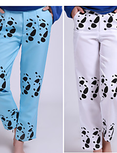Inspired by One Piece Trafalgar Law Anime Cosplay Costumes Cosplay Tops/Bottoms / More Accessories Animal Print White / Blue Hakama pants