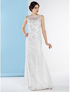 Lanting Bride Trumpet/Mermaid Wedding Dress-Sweep/Brush Train Bateau Lace