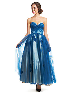 TS Couture® Formal Evening Dress - Ink Blue A-line Sweetheart Ankle-length Tulle