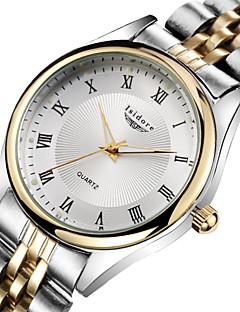 Herren / Damen / Paar Modeuhr Quartz Wasserdicht Edelstahl Band Gold Marke-