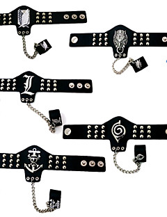 Jewelry Inspired by Attack on Titan Cosplay Anime Cosplay Accessories Bracelet / Ring Black Alloy / PU Leather Male / Female
