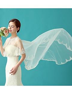 웨딩 / 파티/이브닝 명주그물 / 반짝이 케이프 민소매 결혼식 랩