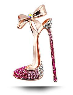 Südkoreanischer Hochzeit Diamant-Brosche Bogen Schuhe mit hohen Absätzen