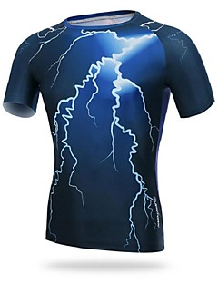 Cycling Jersey Men's Short Sleeve BikeBreathable / Ultraviolet Resistant / Moisture Permeability / Compression / Sweat-wicking /