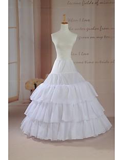 תחתונית  סליפ שמלת נשף אורך עד לרצפה 3 רשתות בד טול לבן