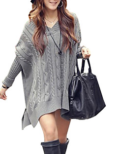Women's V Neck Plus Loose Sweater