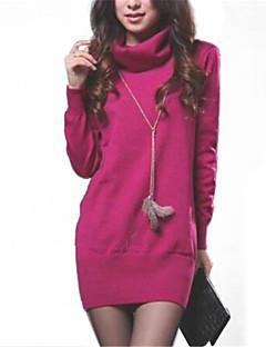 Women's High Collar Slim Long Sleeve Knit Pullover Sweater