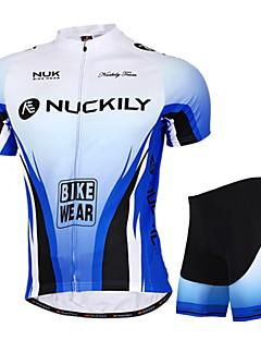 NUCKILY אופנייים/רכיבת אופניים מכנסיים קצרים / חולצה+שורטס / ג'רזי / צמרות / מדים בסטים יוניסקס שרוול קצרעמיד למים / נושם / עמיד אולטרה
