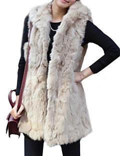 Fur Vest Faux Fur Warm Long Vest with Hood(More Colors)