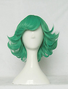 Cosplay Wigs One Punch Man Cosplay Green Short Anime Cosplay Wigs 30 CM Heat Resistant Fiber Female