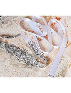 Cetim Casamento / Festa/Noite / Dia a Dia Faixa-Paetês / Miçangas / Apliques / Pérolas / Cristal Feminino 98 ½polegadas(250cm)Paetês /