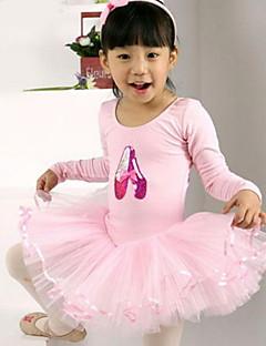 Ballet Dresses Children's Performance Cotton / Tulle Ruffles 1 Piece Black / Pink