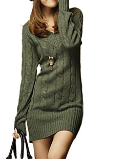 Women's V Neck Slim Long Sweater