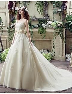 웨딩 드레스 - 샴페인 A 라인 쿼트 트레인 스윗하트 크레이프 / 조젯