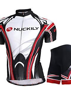 Nuckily Camisa com Shorts para Ciclismo Unissexo Manga Curta MotoImpermeável Respirável Resistente Raios Ultravioleta Zíper á