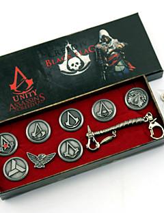 תכשיטים / תג קיבל השראה מ Assassin's Creed קוספליי אנימה / משחקי וידאו אביזרי קוספליי תג / סיכה / אביזרים נוספים כסף סגסוגת זכר