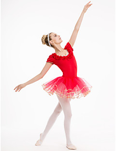 Cotton/Lycra Cap Sleeve Leotards With Tutu Skirts More Colors for Ladies and Girls Kids Dance Costumes