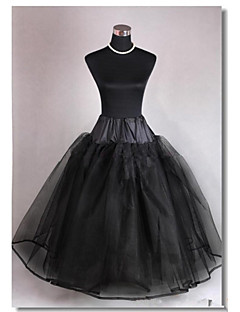 Slips A-Line Slip / Ball Gown Slip / Chapel Train Floor-length 3 Tulle Netting Black