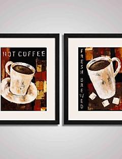Abstrakt / Stillleben / Feiertage / Freizeit / Essen/Getränke Gerahmte Printkunst / Gerahmtes Leinenbild / Gerahmtes Set Wall Art,PVC