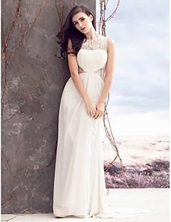 lanting boda de la envoltura de la novia / vestido de la columna de barrido / cepillo tren gasa de la joya / cordón