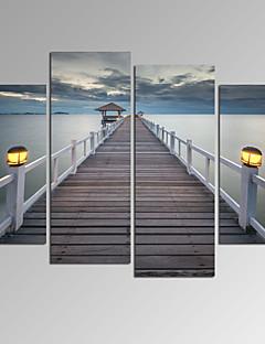 VISUAL STAR®Bridge on Sea Landscape Canvas Wall Art Modern Wall Decor Canvas Art Ready to Hang