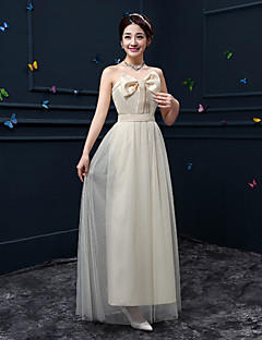 Ankle-length Crepe Bridesmaid Dress A-line Sweetheart with Bow(s)