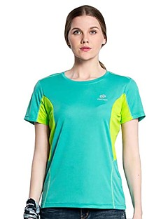 Outdoor Hiking Camping Tectop Women Polyester Short Sleeve T Shirt Quick Drying Breathable Cool Top Tees
