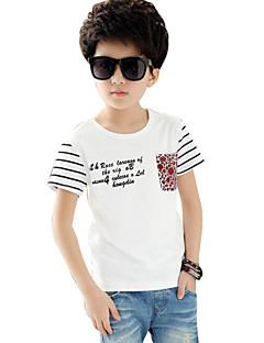 Stripet,Guttens Sommer T-skjorte Bomull