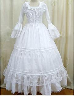gotisk lolita kjole vintage hvite gotiske viktoriansk kjole cosplay kostymer