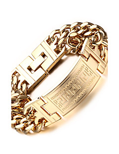 Homme Chaînes & Bracelets bijoux de fantaisie Acier inoxydable Plaqué or Bijoux Pour Soirée Quotidien Décontracté Sports