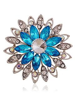 여성 아크릴 라인석 세라믹 모조 다이아몬드 합금 패션 퍼플 커피 블루 보석류 결혼식 파티 일상