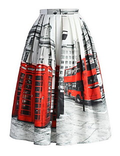 Polyester - Micro-elastisch - Casual - Maxi - Vrouwen - Rokken