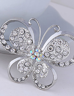 Women's Crystal Butterfly AnImal Brooch for Wedding Party Decoration Scarf ,Fine Jewelry,Random Color
