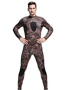 Homens 3mm Roupas de mergulho Drysuits Mergulho Skins Macacão de Mergulho LongoImpermeável Térmico/Quente Resistente Raios Ultravioleta