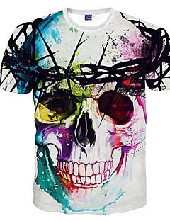 Masculino Camiseta Poliéster Estampado Manga Curta Casual / Esporte