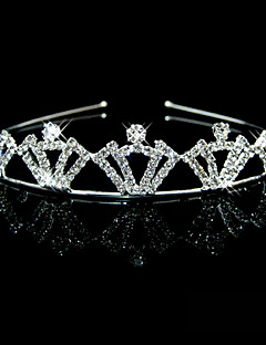 Wedding Bridal Flower Girls Kids Crystal Pearl Hair Band hoofdband Tiara