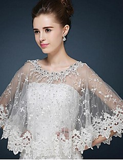 Wedding / Party/Evening / Casual Lace / Tulle Ponchos Sleeveless Wedding  Wraps