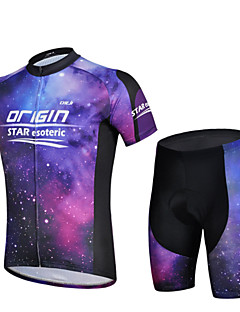 CHEJI® Cycling Jersey with Shorts Men's Short Sleeve BikeBreathable / Quick Dry / Ultraviolet Resistant / Lightweight Materials / 3D Pad