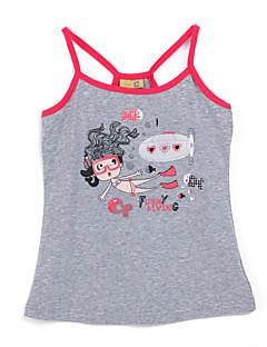Girl's Gray Skirt,Cartoon Cotton Summer
