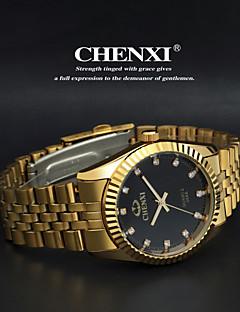 CHENXI® Herren Armbanduhr Quartz Japanischer Quartz Armbanduhren für den Alltag Edelstahl Band Gold Gold Weiß Schwarz