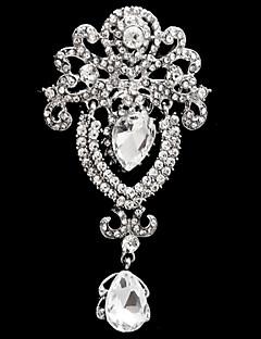 Rintaneulat Metalliseos Lasi jäljitelmä Diamond Muoti Flower Shape Valkoinen Korut Häät Party Erikoistilaisuus Syntymäpäivä