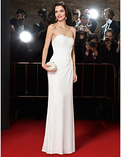 TS Couture Formal Evening Dress - Ivory Trumpet/Mermaid Sweetheart Floor-length Chiffon