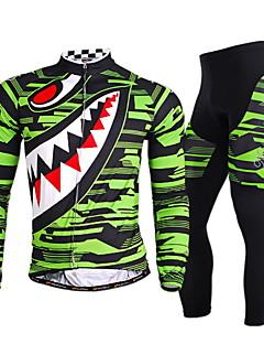NUCKILY® Calça com Camisa para Ciclismo Homens Manga Comprida MotoRespirável / Secagem Rápida / A Prova de Vento / Resistente Raios