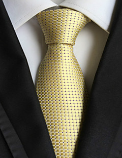 Açık altın kumandalı jakar dokuma erkek kravat kravat